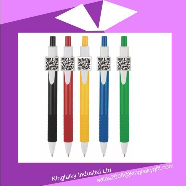 New Design Qr Code Plastic Ball Pen MOQ 1000PCS