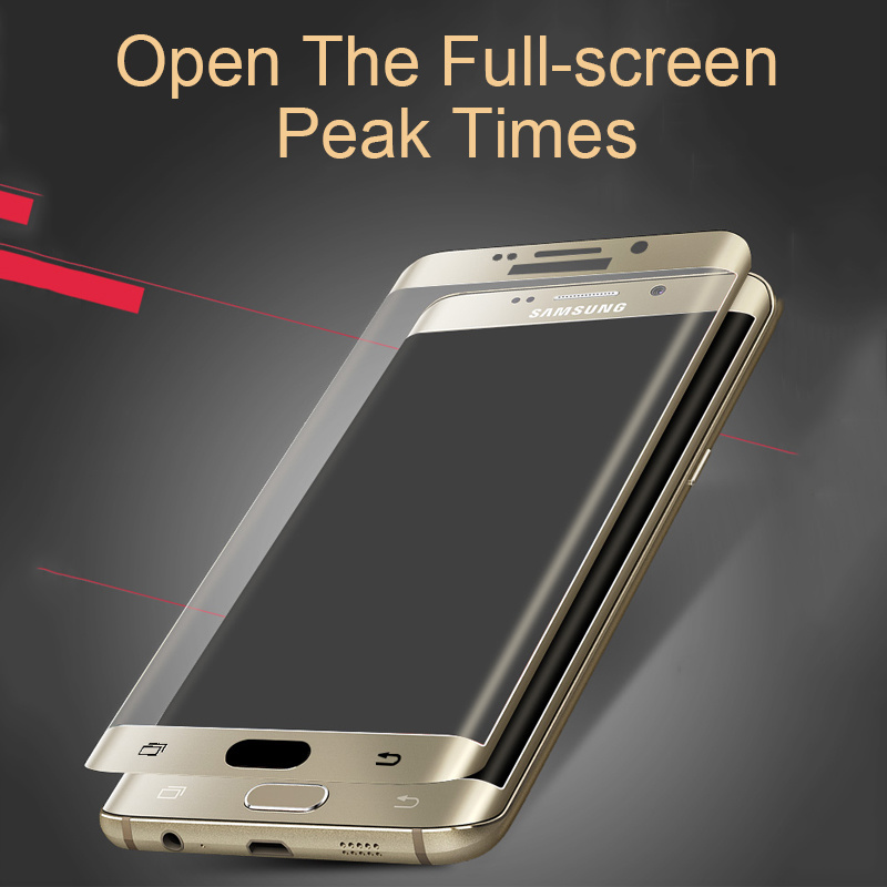 3D Heat Bending Curved Edge Tempered Glass Phone Protector for S6/S6 Edge