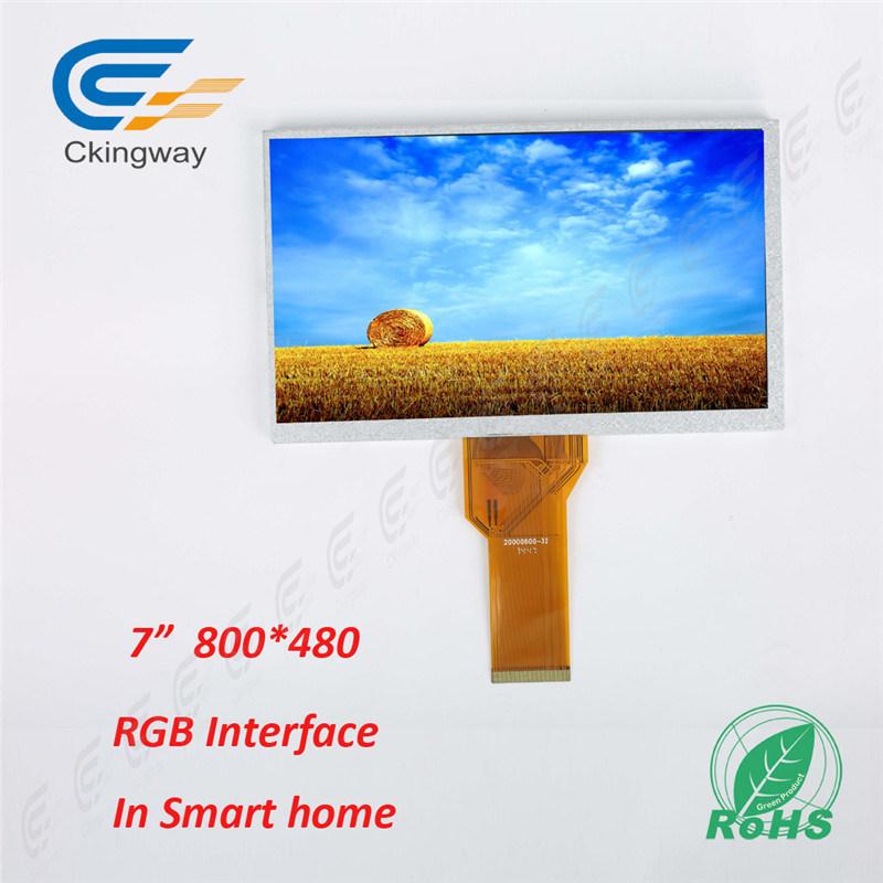 "7"" 50 Pin 800*480 Hx8264+Hx8664 Industrial TFT Monitor"