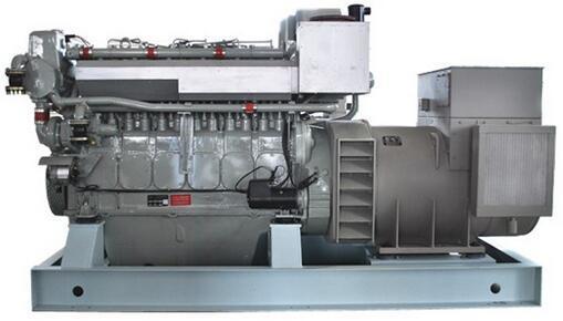 650kw 6 Cylinders Radiator Cooled Diesel Marine Genset