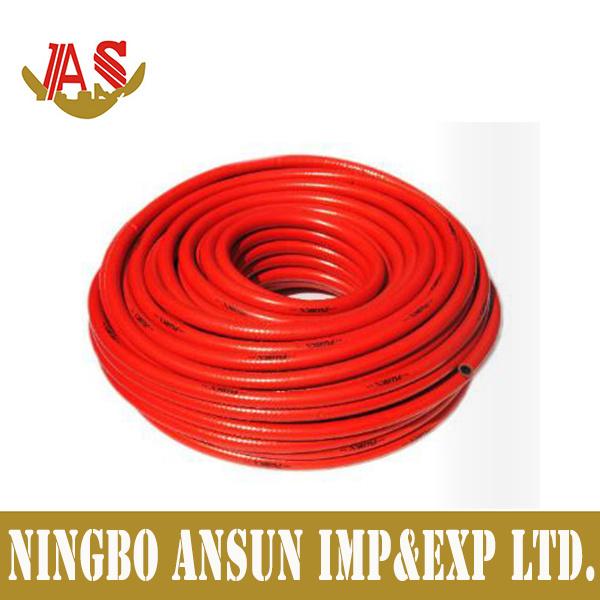 8mm Black Flexible Braided PVC LPG Gas Hoses,
