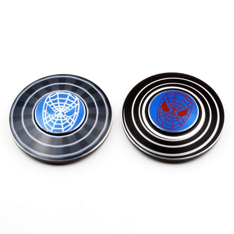 Popular Spider Man Metal Hand Spinners Zinc Alloy Fidget Spinners
