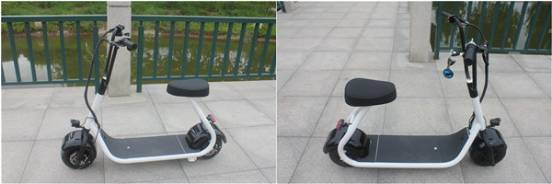 Mini Harley Electric Scooter with 350W, 48V/10ah Lithium.