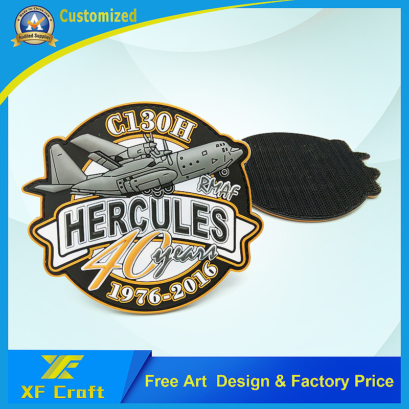 Promotion Custom Military 3D Logo Garment Label Fashion PVC Rubber Patch Badge for Clothing (XF-PT04)