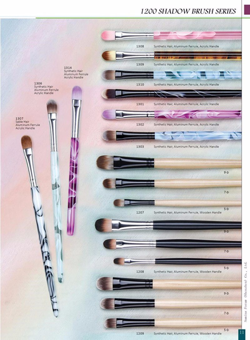High Quality Different Color Handle Eye Shadow Brush