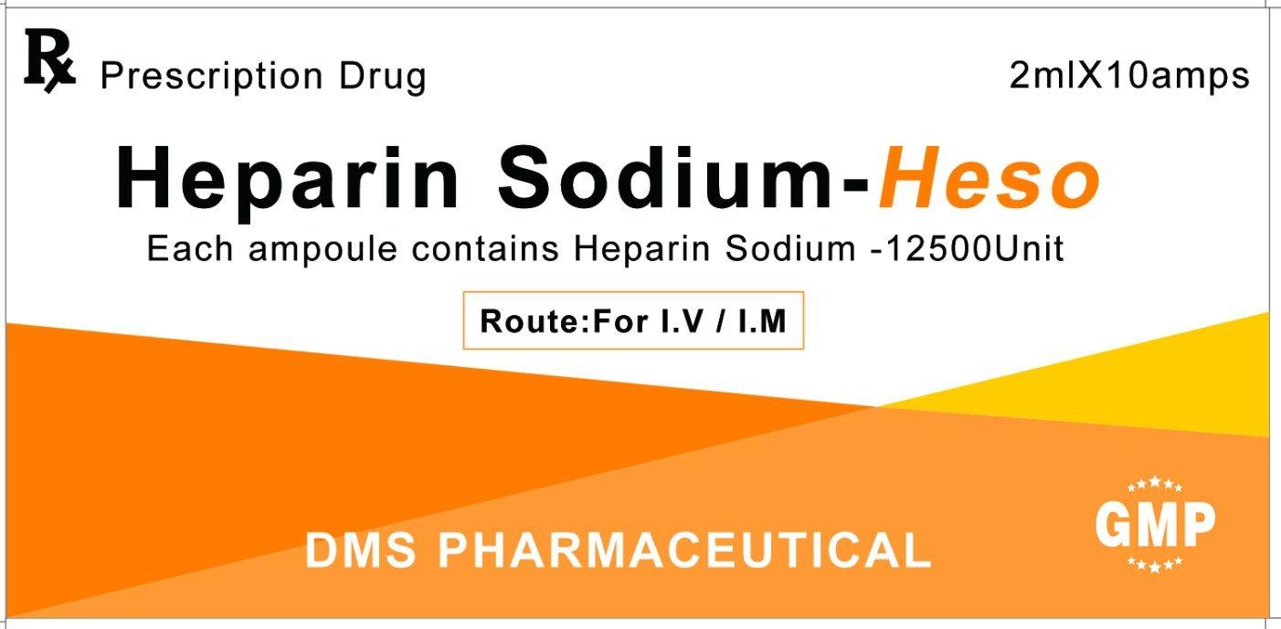 Heparin Sodium Injection for Pulmonary Embolism 12500unit/2ml