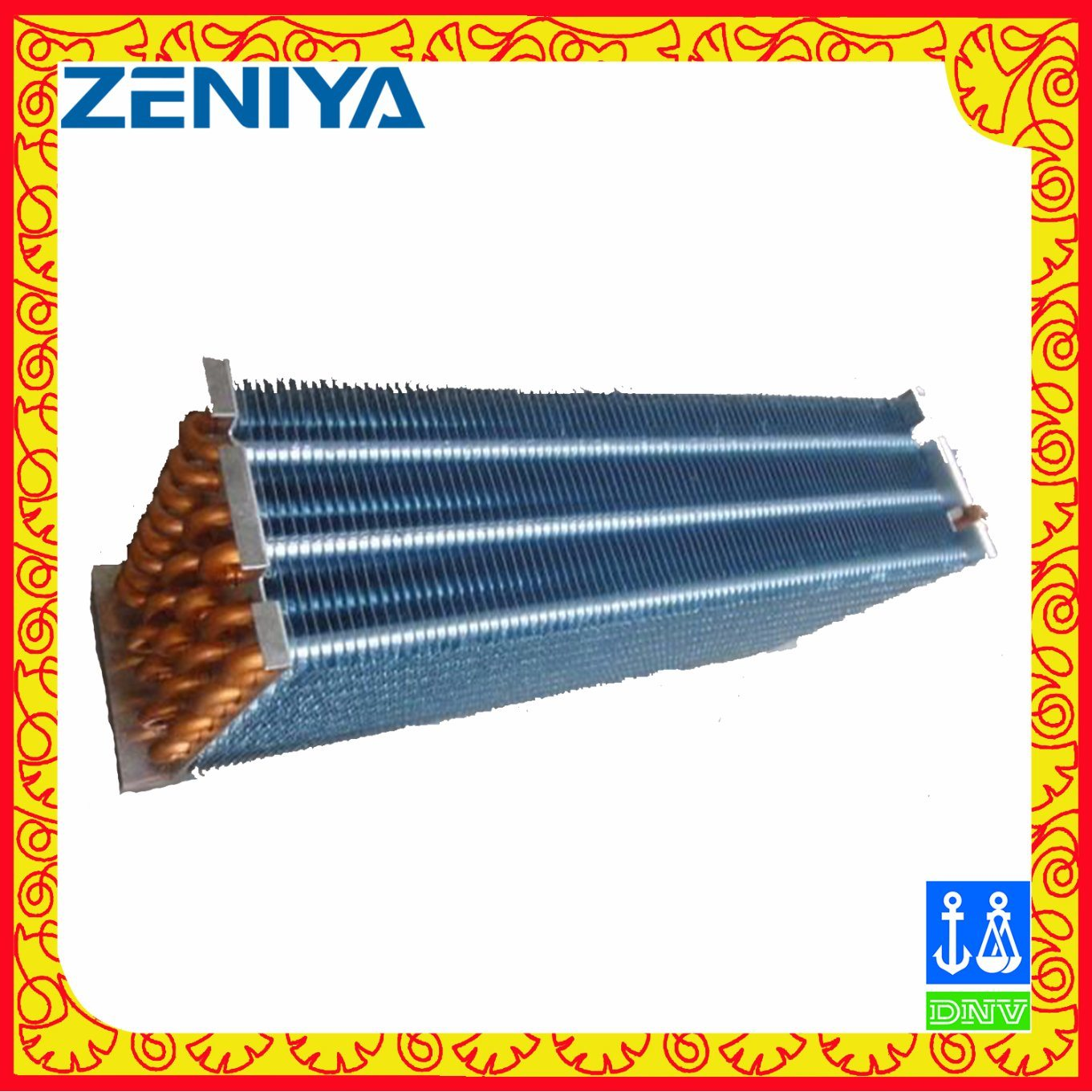 Environmental Copper Tube Copper Fin Condenser Coil for AC Outdoor Unit