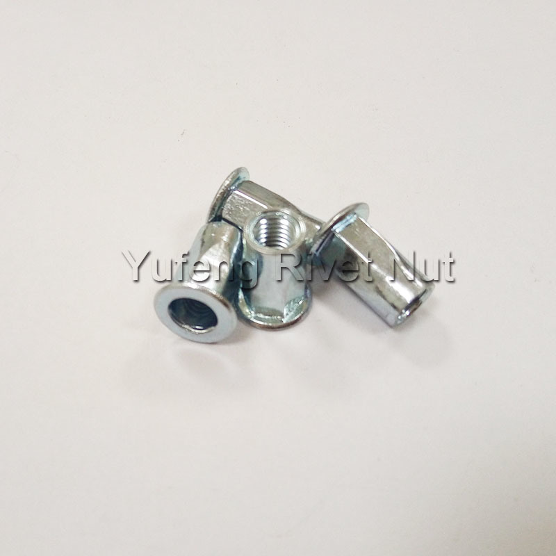 Zinc Plating Half Hexagon Rivet Nut with Pan Head