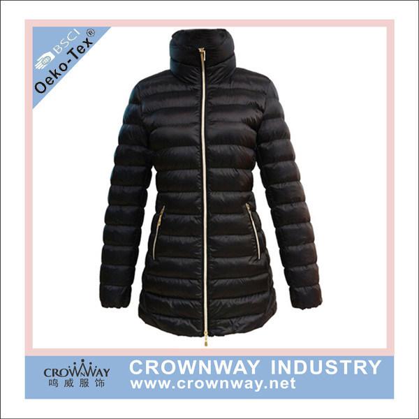 Women Ultralight Black Goose Down Feather Jacket