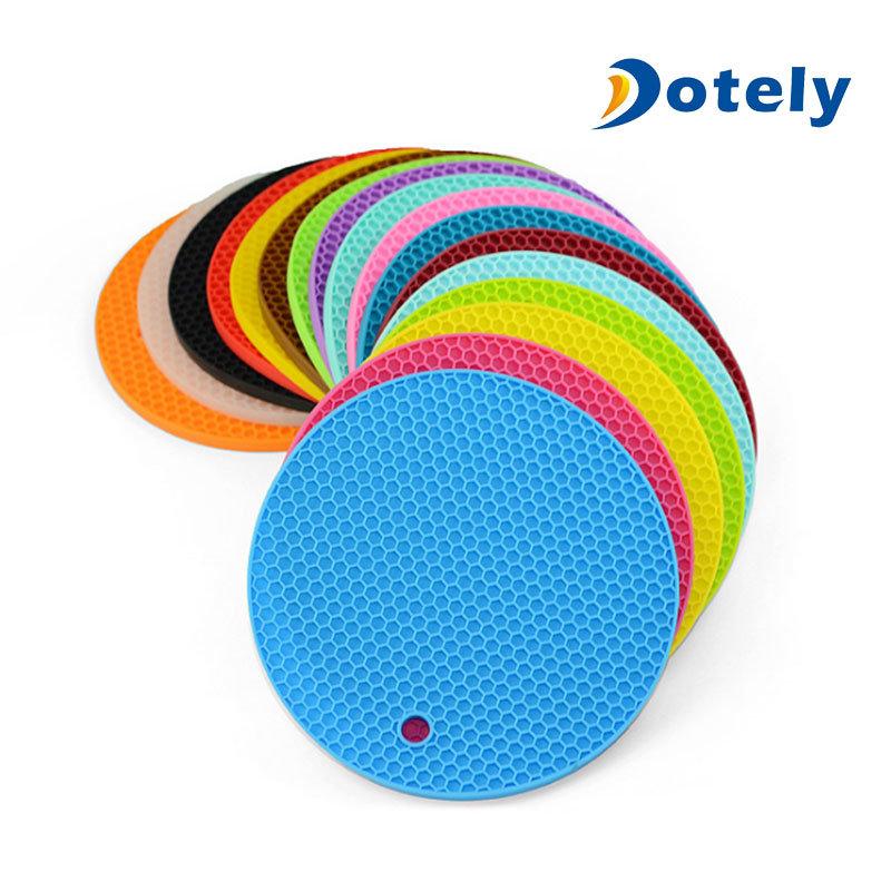 Honeycomb Round Silicone Heat Resistant Coasters