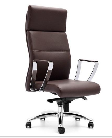 Elegant Design Aluminium Base Leather Arms Executive Office Chair (NS-6C113)