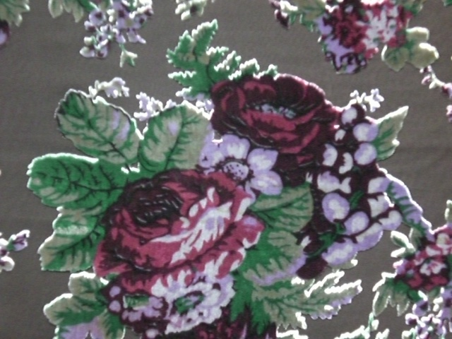 Silk Velvet Discharge Print with Burn out