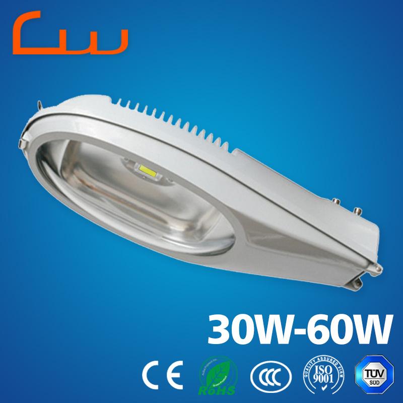 Outdoor 30W 40W 50W 60W Aluminum LED Street Light Housing