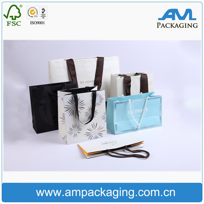 Handmade Paper Packaging Shopping Bag with Handles