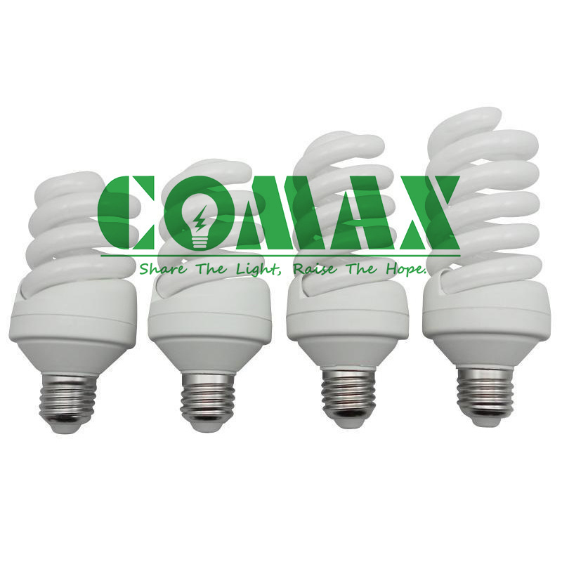 E27 B22 T4 15W~30W Full Spiral ESL/CFL Energy Saving Lamp