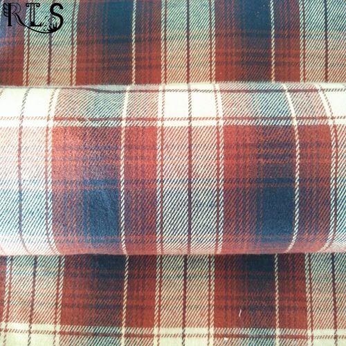 Cotton Flannel Woven Yarn Dyed Fabric for Garments Shirts/Dress Rls21-3FL