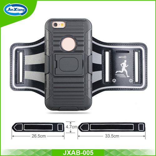 Armband Holster Case for iPhone 6, Running Belt with Slide Holster Defender Case, Sweat Proof Case, Impact Resistant Case
