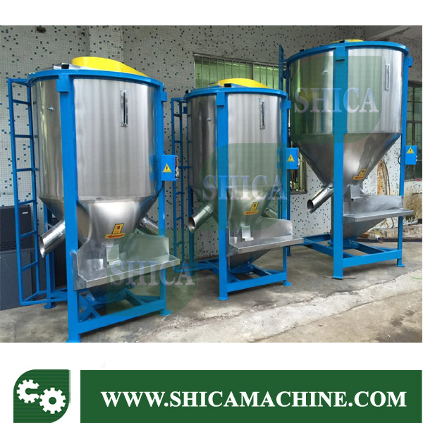 Big Plastic Granules Vertical Type Color Mixer and Blender with Dryer Blower