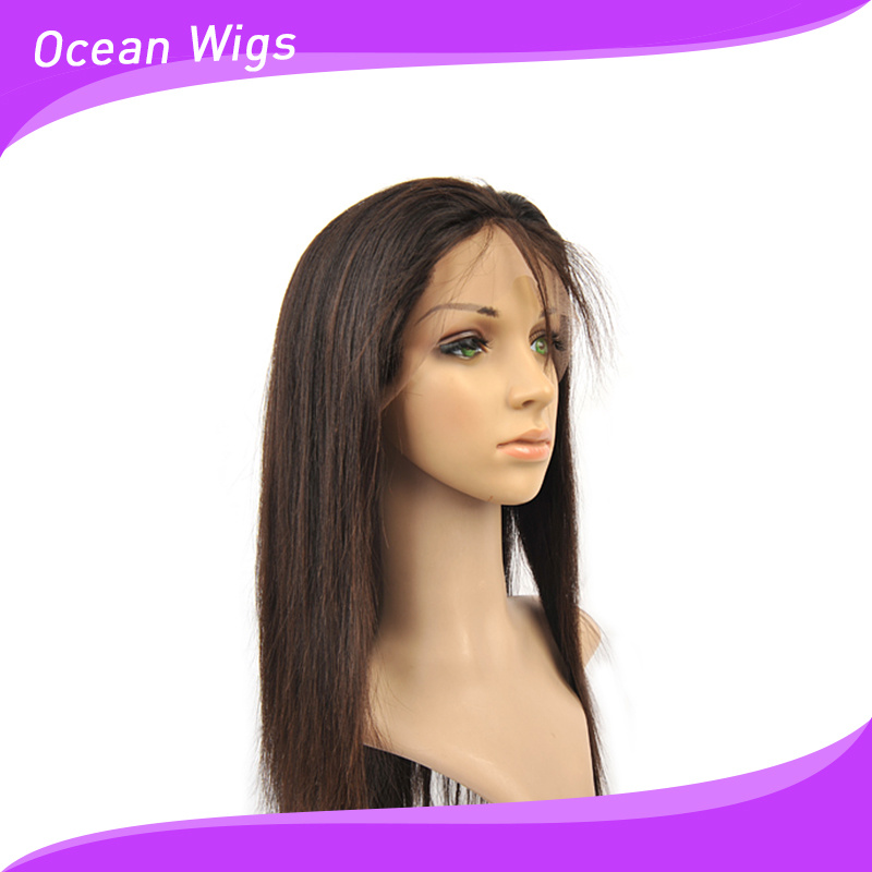 """100% Human Indian/ Brazilian Virgin Remy 16"""" Straight Front Lace Wig"""