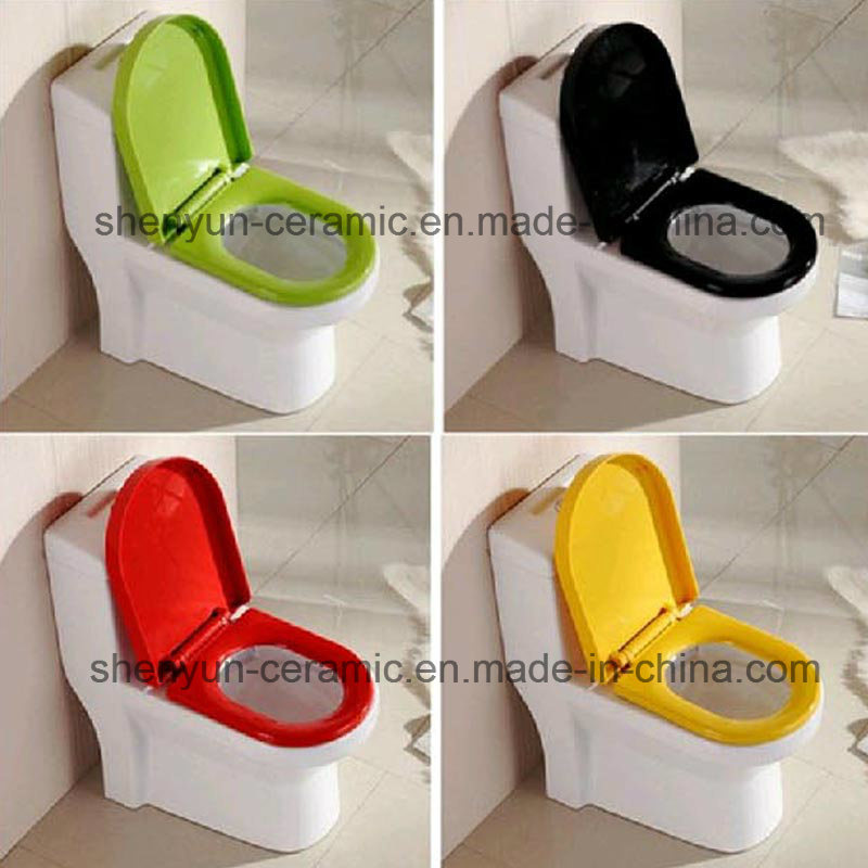 Ceramic One-Piece Toilet Color Toilet Siphonic Flushing S-Trap (A-008)