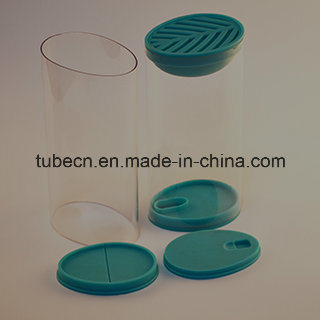 Clear Ellipse Plastic Tube for Packaging