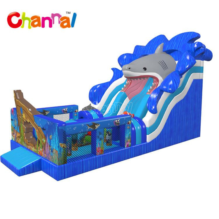 Seaworld Inflatable Double Lane Slip Dry Slide Chsl1133