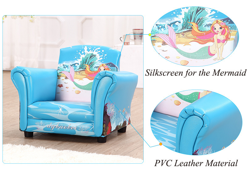 PVC Leather Kids Upholster Chair/ Children Furniture (SF-74)