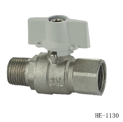(HE1130--HE1133) Brass Ball Valve Pn30 with Wing Handle for Water, Oil