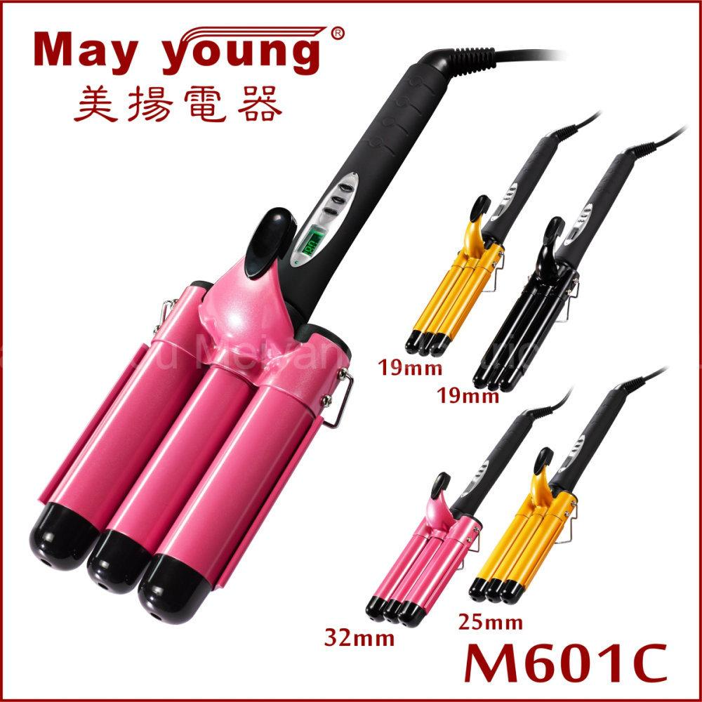 Professional Tourmaline Triple Barrels LCD Hair Curler Hair Curling Iron