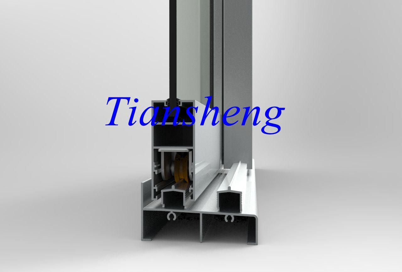 Heavy Duty Grey Double Glazed Aluminium Sliding Window