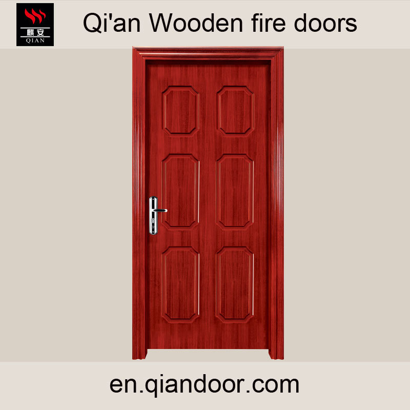 China Entry Wood Fireproof Fire Rated Door