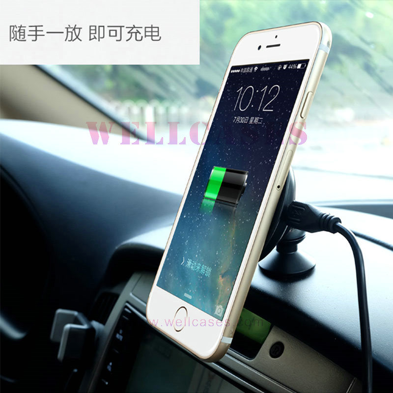 Customized Ce/Rohs/Rech/Qi Car Mount Transmitter Wireless Charger for Mobile Phone