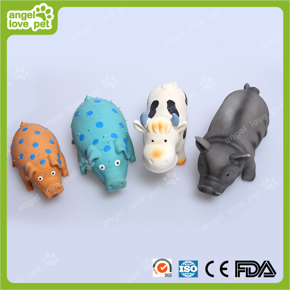 Latex Toy 22cm Spotted Pig Pet Toys (HN-PT418)