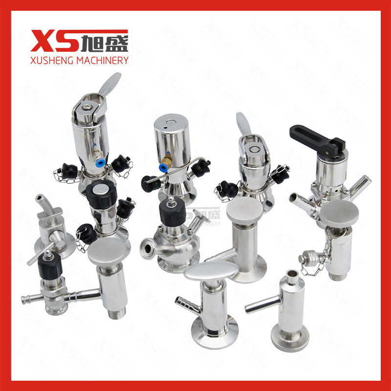 Food Grade SS316L Aseptic Sampling Valve with Turning Handle