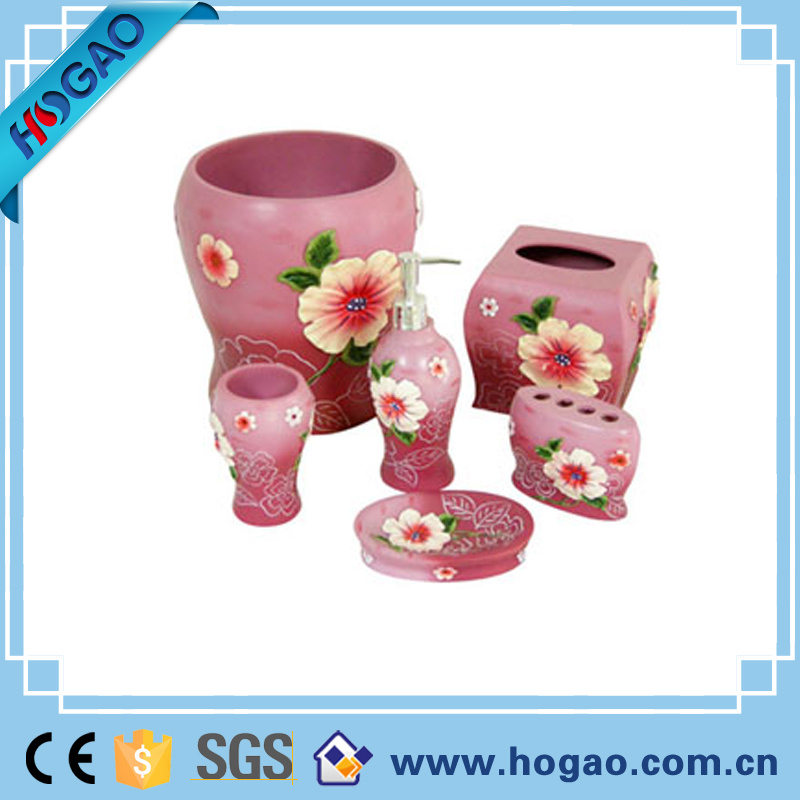 Top-Rated Basketball Bathroom 5PCS Set Creative Resin Bathroom Set