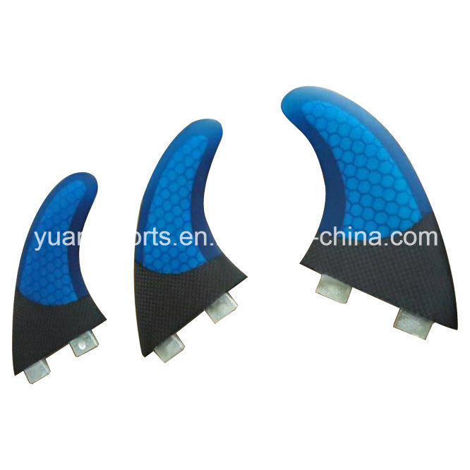 Half Carbon Honeycomb Glassfiber Fcs Surf Fin for Surfboard