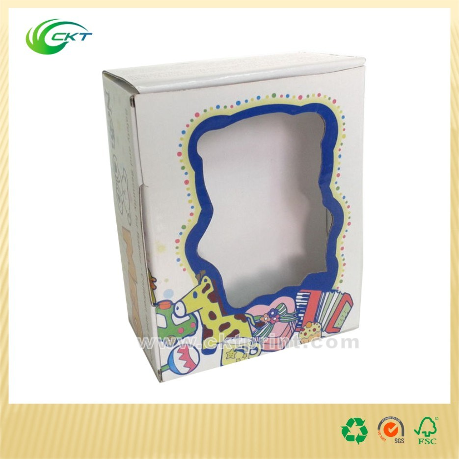 Paper Card Stock Display Box with Clear Window (CKT-CB-128)