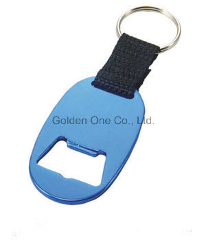 Custom Printed & Epoxy Logo Metal Bottle Opener Key Ring