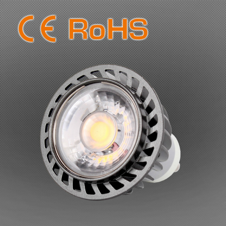 8W/6W COB Chip LED Spotlight MR16/GU10 for Art Gallery