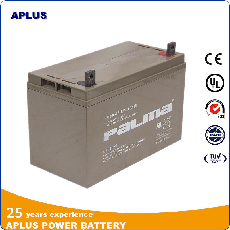 12V 100ah Sealed Medium Size VRLA Batteries for Electronic Appliance