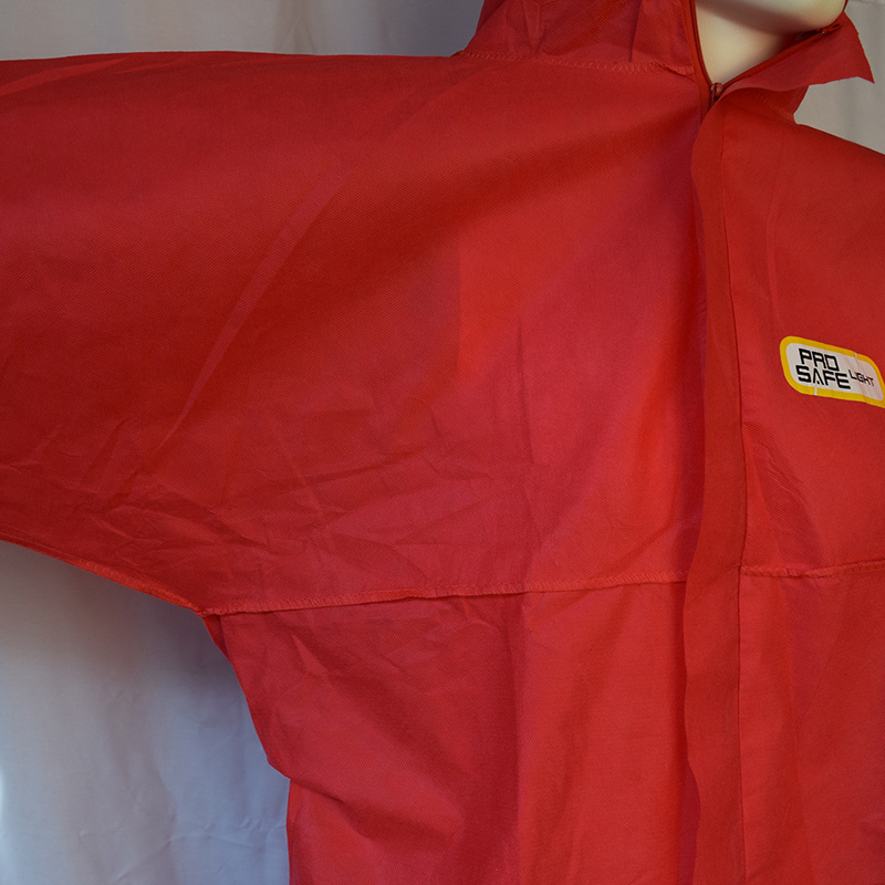 Disposable Red SMS Non-Woven Overall, Paint Coverall