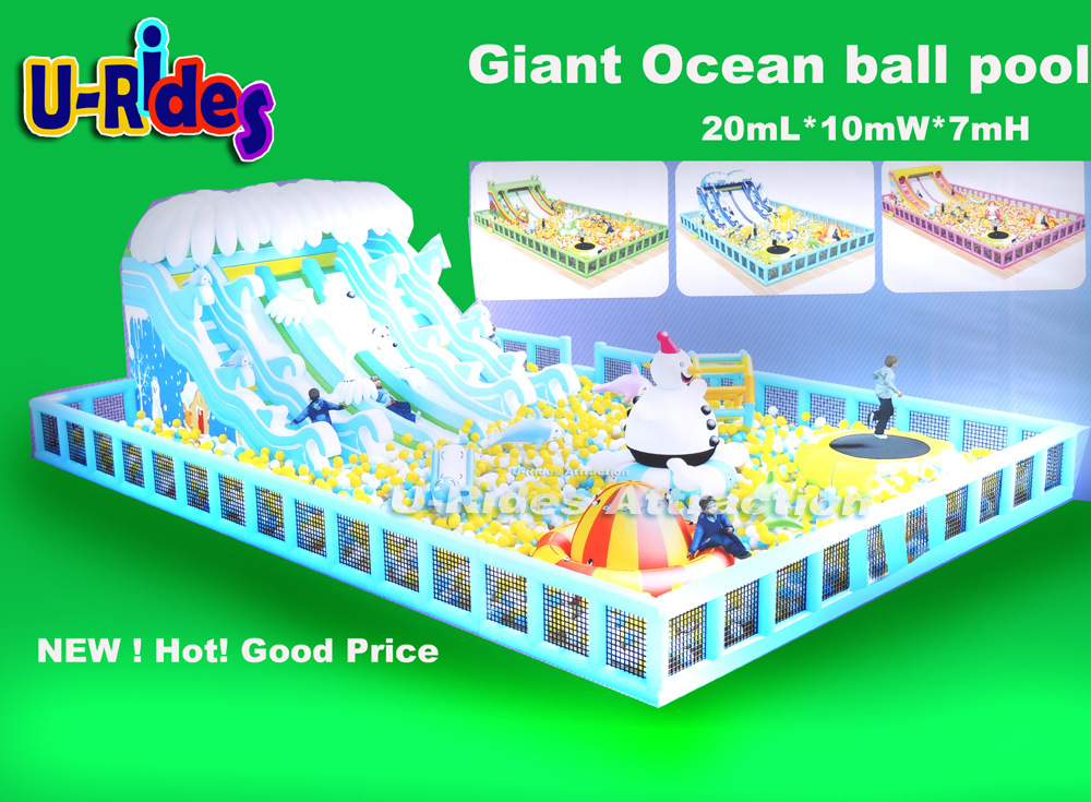 Giant Ocean balls pool Inflatable playground with Ocean balls