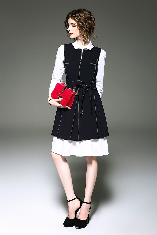 Customization Women Grey Rockabilly Bodycon Business Knee-Length Pencil Dress
