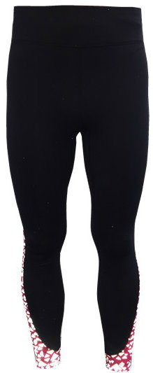 Women′s Knitted Pants with Allover Reflective Print on Inserted Fabric