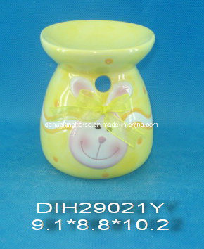 Hand-Painted Ceramic Easter Bunny Incense Burner