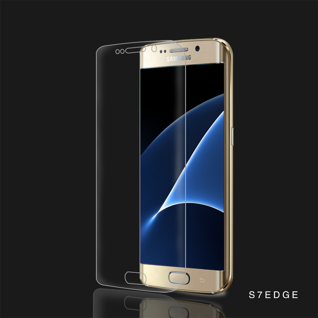 Silk Printing Tempered Glass Phone Screen Protector for Samsung S7 Edge