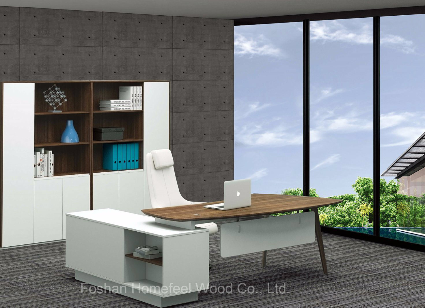 Modern Commercial New Design Office Curved Manager Desk (HF-BSA01)