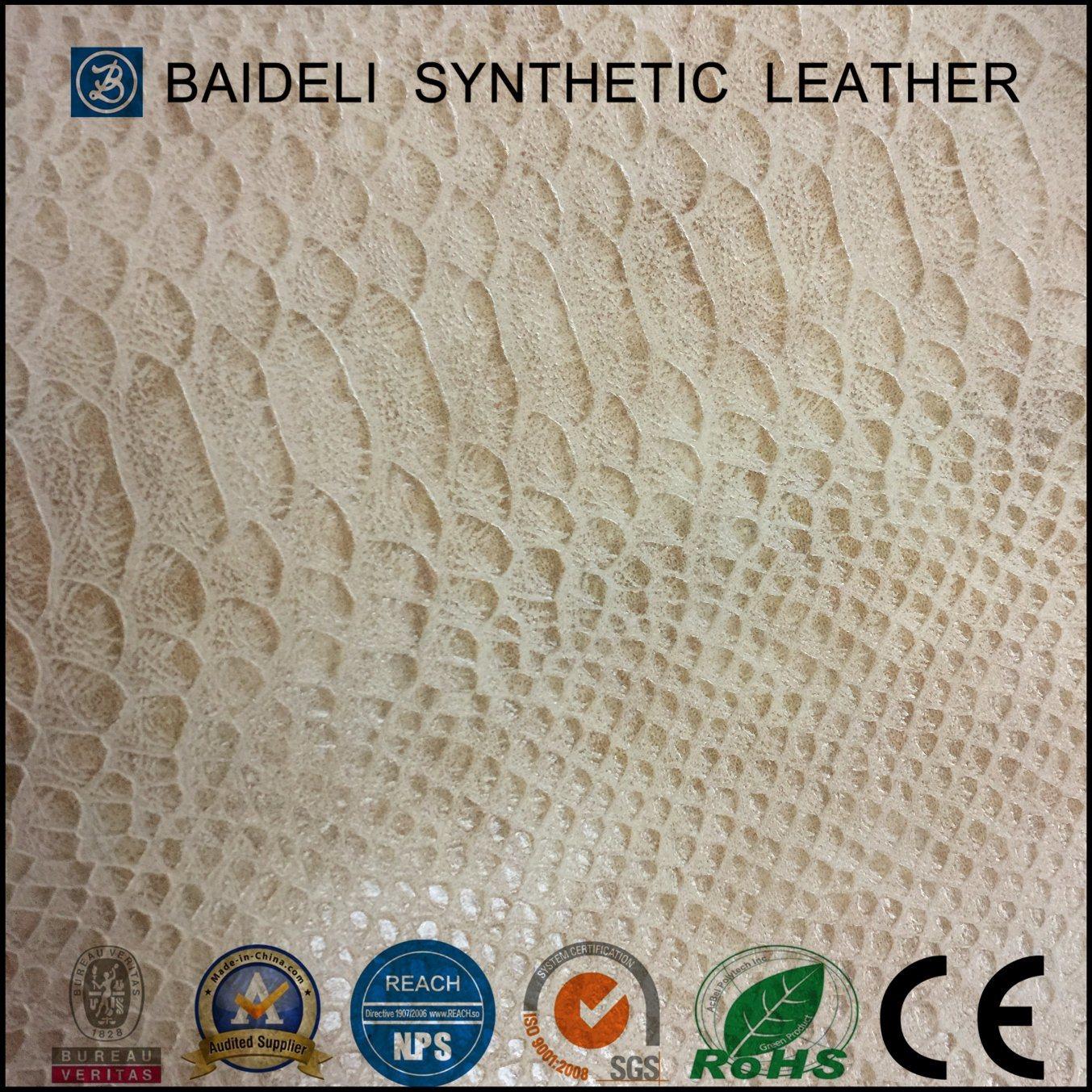High Quality Snake PVC Garment Leather