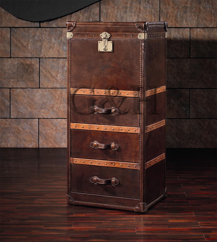 Vintage Leather Cabinet