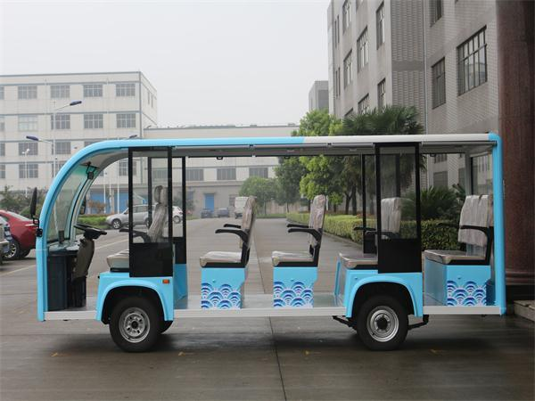 2017 Newest Model Electric Sightseeing Bus 14 Seats E Vehicle City Park Fashion Tour Bus for Sale